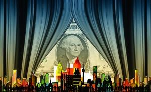 dollar-behind-cityscape
